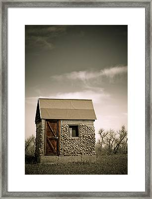 Rock Shed Framed Print by Marilyn Hunt