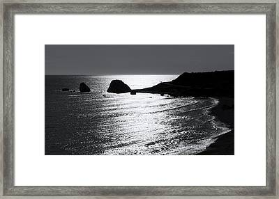 Rock Silhouette Framed Print