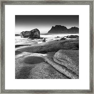 Rock Solid Framed Print by Alex Conu
