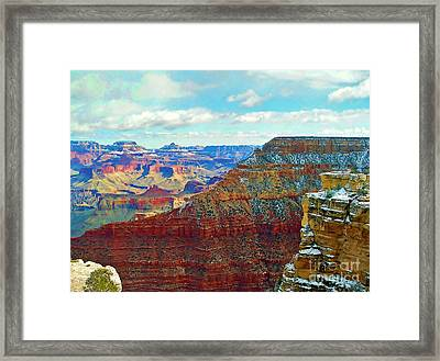 Framed Print featuring the photograph Rock Solid by Roberta Byram