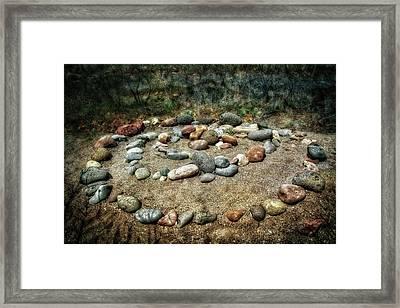 Rock Spiral At Buddha Beach - Sedona Framed Print by Jennifer Rondinelli Reilly - Fine Art Photography