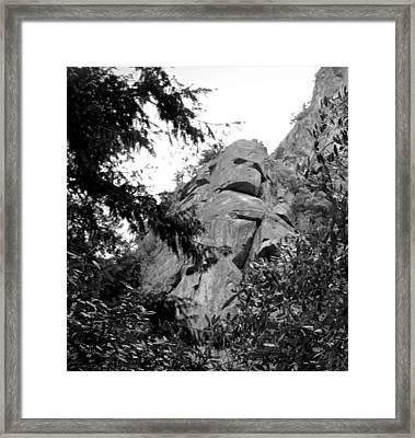 Rock Spirits At Yosemite B And W Framed Print