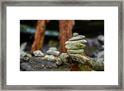 Rock Stack Framed Print