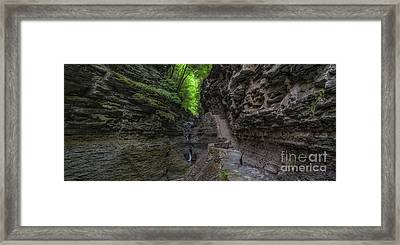 Rock Stairs Panorama  Framed Print by Michael Ver Sprill