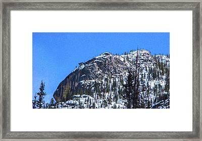 Rock Steady Methow Valley Motivational Artwork By Omashte Framed Print by Omaste Witkowski