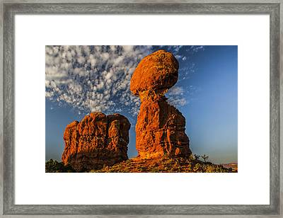 Rock, Sun, Cloud, And Sky Framed Print