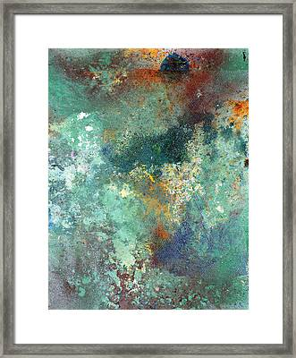 Rock Surface Framed Print by Rob Woods