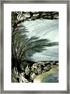 Framed Print featuring the photograph Rock Tunnel by Pennie  McCracken