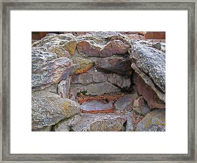 Framed Print featuring the photograph Rock Water Fountain by Tammy Sutherland