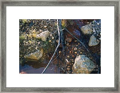 Rock Water Lake Framed Print by Simonne Mina
