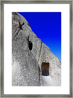 Rock Window Framed Print by Angela Siener