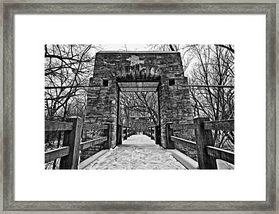 Rock Wood Steel Framed Print