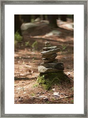 Rock Yoga Framed Print