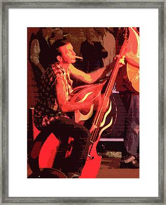 Rockabilly Bass Player Framed Print by Andy Jeter