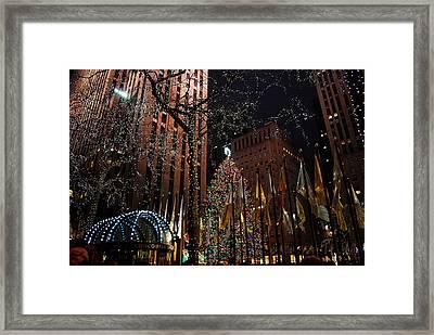 Rockafeller Center At Christmas Framed Print