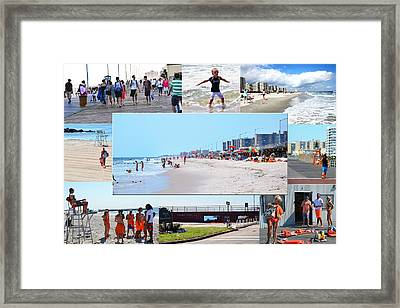 Rockaway Beach And Boardwalk 003 Framed Print