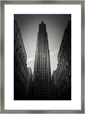 Rockefeller Center Framed Print by Dave Bowman