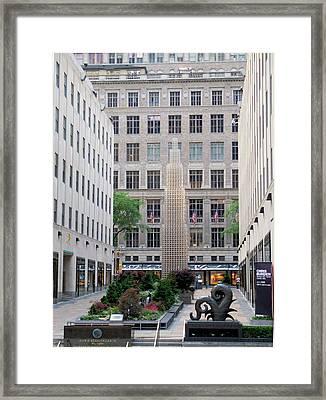 Rockefeller Center Ny Framed Print by Janet Pugh