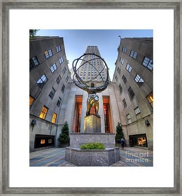 Rockefeller Centre Atlas - Nyc - Vertorama Framed Print
