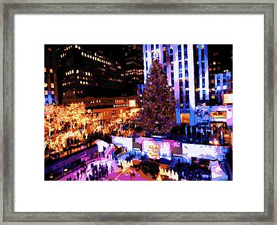 Rockefeller Tree Color 16 Framed Print by Scott Kelley