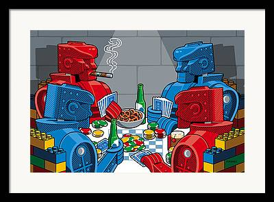 Rockem Sockem Robots Framed Prints