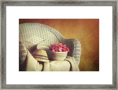 Rocker With Bowls Framed Print by Tom Mc Nemar