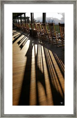 Framed Print featuring the photograph Rockers - Mohonk Mountain House by Tom Romeo