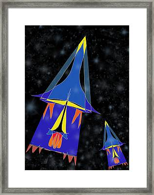 Rocket 2 Framed Print by Denny Casto