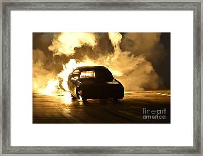 Jet Drag Race Car Framed Print