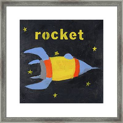 Rocket Framed Print by Laurie Breen