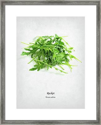 Rocket Framed Print by Mark Rogan