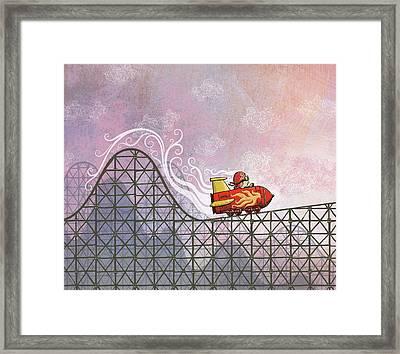 Rocket Me Rollercoaster Framed Print by Dennis Wunsch