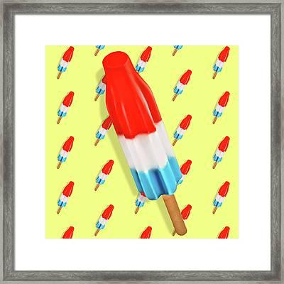 Rocket Pop Pattern Framed Print by Little Bunny Sunshine