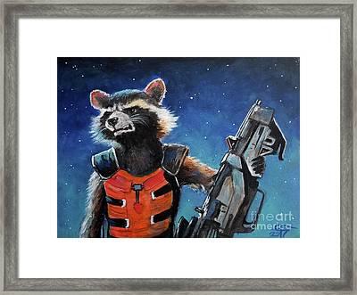 Rocket Framed Print by Tom Carlton