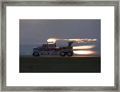 Rocket Truck Framed Print
