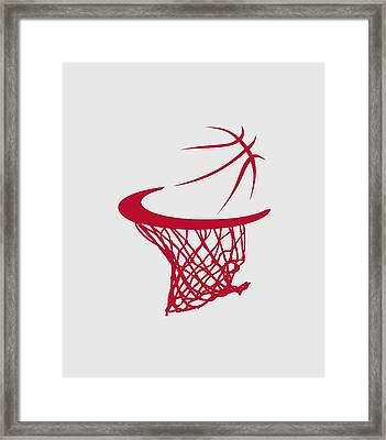 Rockets Basketball Hoop Framed Print