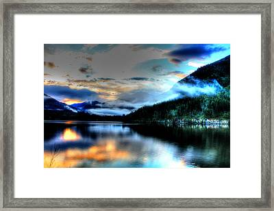 Rockie Mountain Mist Framed Print