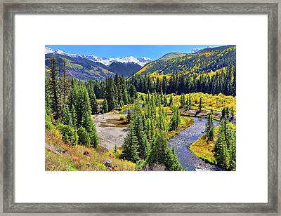 Rockies And Aspens - Colorful Colorado - Telluride Framed Print