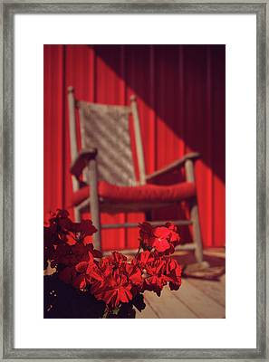 Framed Print featuring the photograph Rockin' Red by Jessica Brawley