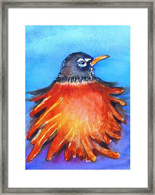 Framed Print featuring the painting Rockin Robin by Patricia Piffath
