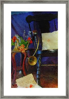 Rocking Chair And Horn No. 3 Framed Print by Reid Hitzeman