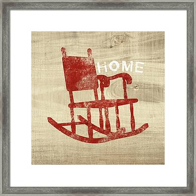 Rocking Chair Home- Art By Linda Woods Framed Print by Linda Woods