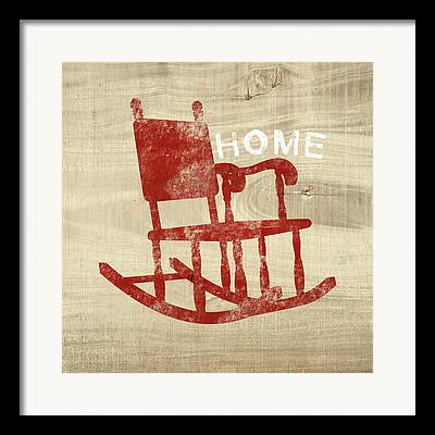 Rocking Chairs Mixed Media Framed Prints