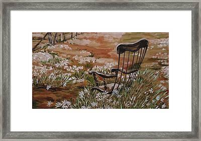 Rocking Chair No.2 Framed Print by Christine Marek-Matejka