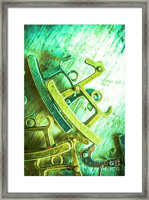Rocking Horse Metal Toy Framed Print