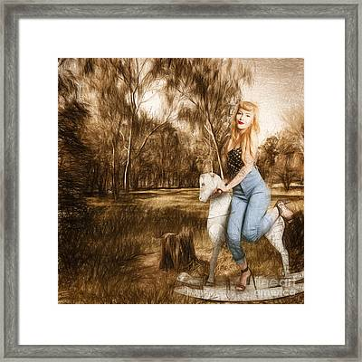 Rocking Horse Pin Up Framed Print