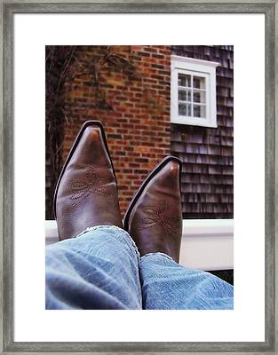 Rocking Kicks Framed Print by JAMART Photography