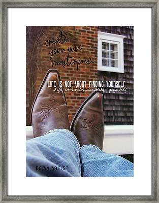 Rocking Kicks Quote Framed Print by JAMART Photography