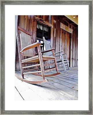 Rocking On The Front Porch Framed Print