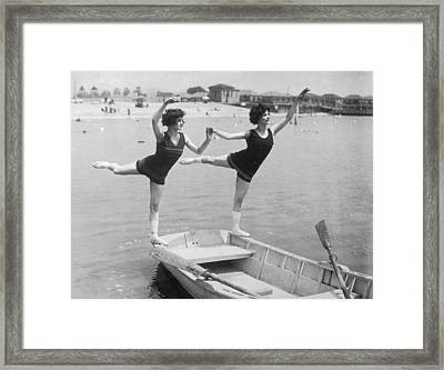 Rocking The Boat Framed Print by Fpg